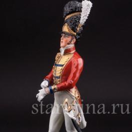 Фарфоровый солдат Офицер шотландской гвардии, 1815, Sitzendorf, Германия, вт. пол. 20 в.